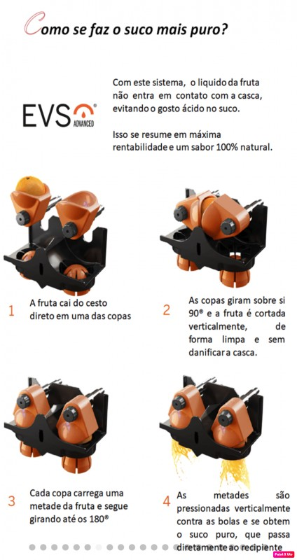 Espremedor de laranja automático industrial