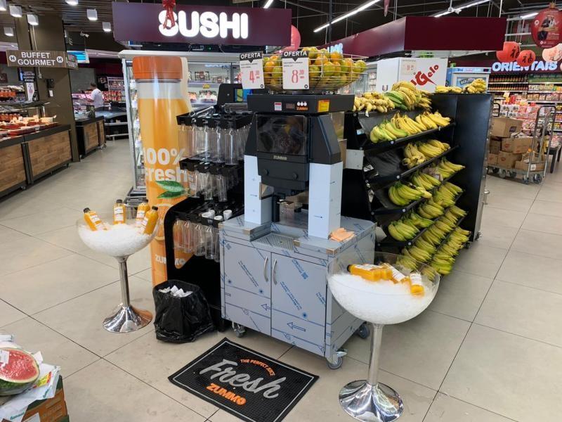 Máquina espremer laranja automática