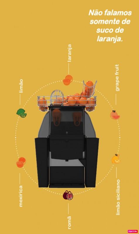 Máquina extratora de suco de laranja